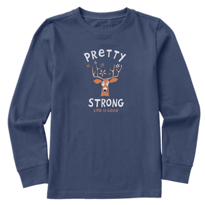 New Kids Long Sleeve Crusher Tee Pretty Strong Deer