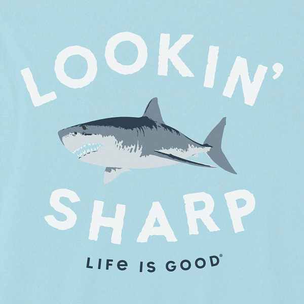 New Kids Long Sleeve Crusher Tee Lookin' Sharp Shark
