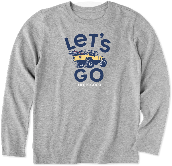 New Kids Long Sleeve Crusher Tee Let's Go 4x4