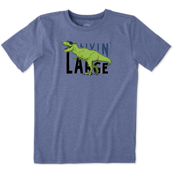 Boys Cool T Livin' Large VtgBlu - Jake by the Lake-Life is good