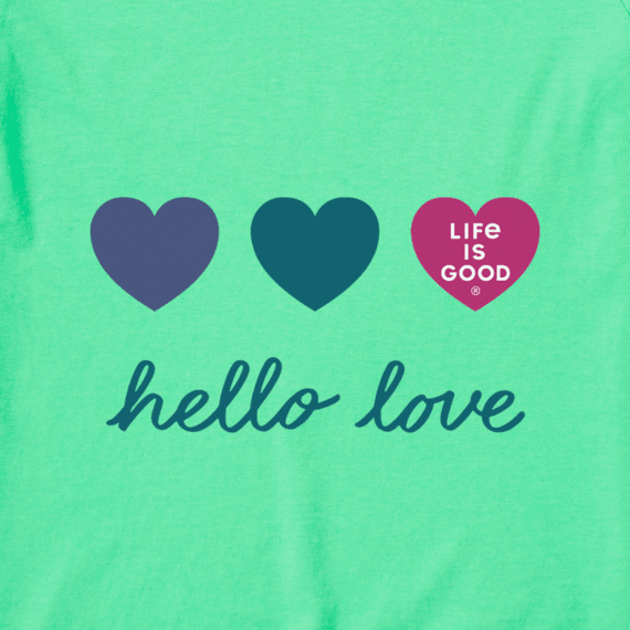 Women's Crusher Tee Vintage-Hello Love