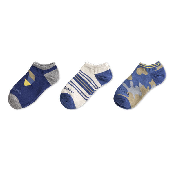 3-Pack Boys Camo Tree Low Cut Socks - Jake by the Lake-Life is good
