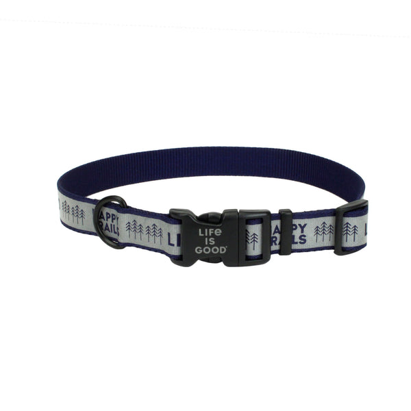 Happy Trails Reflective Dog Collar (MEDIUM)