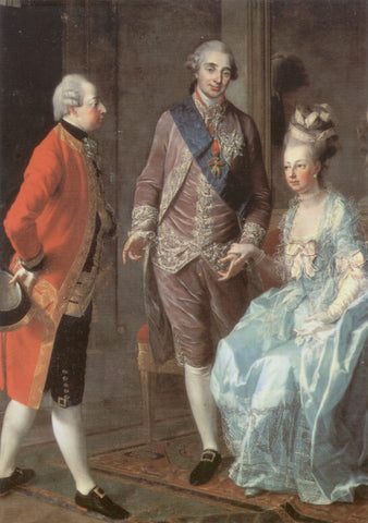 Louis XVI and Marie Antoinette visited by Archduke Maximilian Franz of Austria.