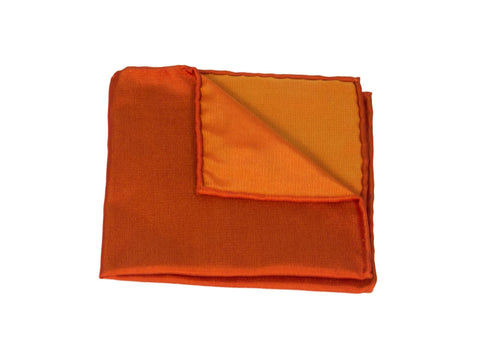 Warm Terracotta Woven Silk Pocket Square