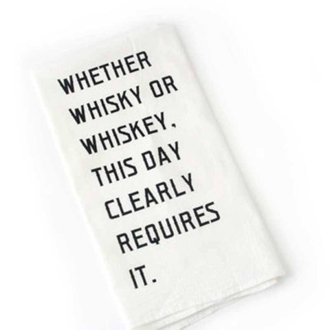 Bar Towel - Whiskey Bar Towel