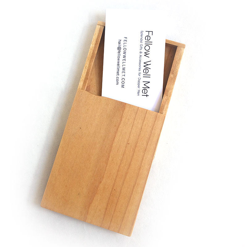Wooden Business Card Holder Wallet