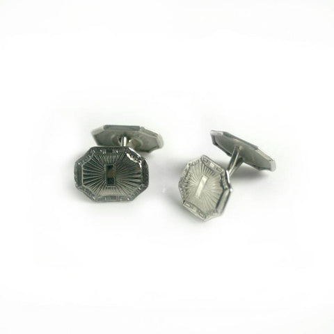 Cufflinks - Talon Grip HWK Co. Silvertone Cuff Links