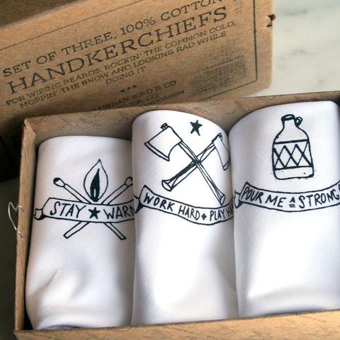 Handkerchief - Handkerchief Set: Axe, Moonshine & Matches