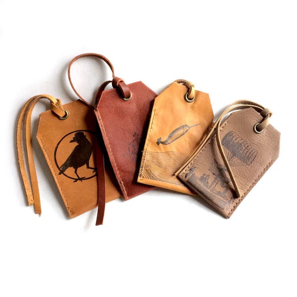 Handcrafted Leather Luggage Tags