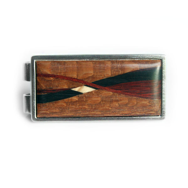 Handcrafted Inlaid Wood Money Clip