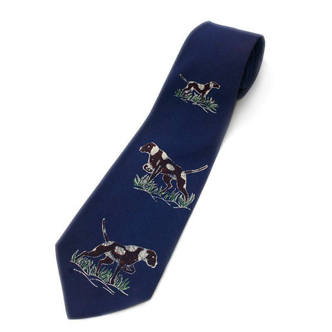 Necktie - Vintage Blue Bird Dog Necktie