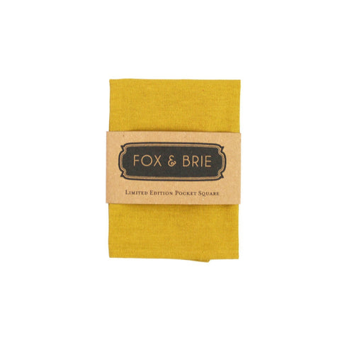 Pocket Square - Mustard Linen Pocket Square