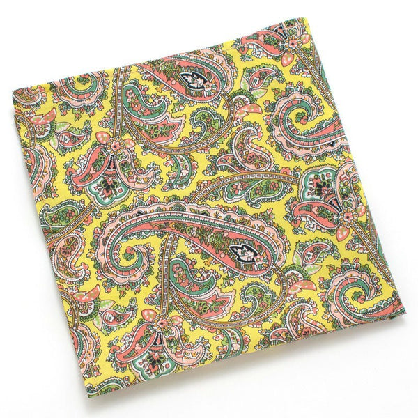 Pocket Square - Sun Paisley Pocket Square