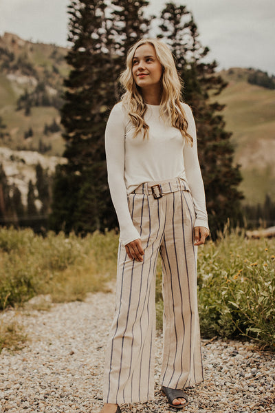 Ashton Navy Striped Loose Pants