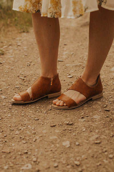 Aster Cut Out Sandal in Brown