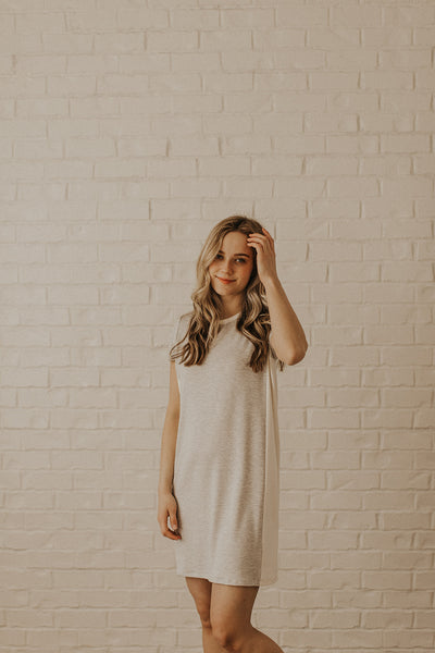 Jonesy Striped Dress in Grey