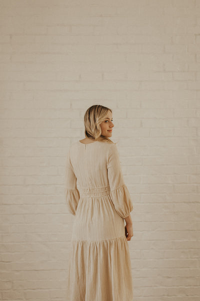 Vienna Ruffled Dress in Cream