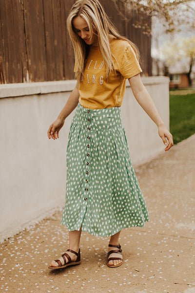 Delilah Button Up Midi Skirt