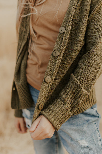 Oak Cardi Sweater in Olive