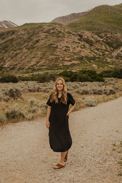 Benny Long Dress in Black