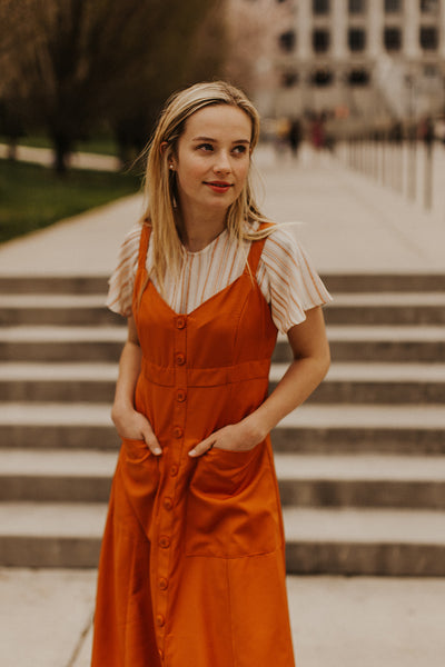 Parker Cami Dress in Burnt Orange