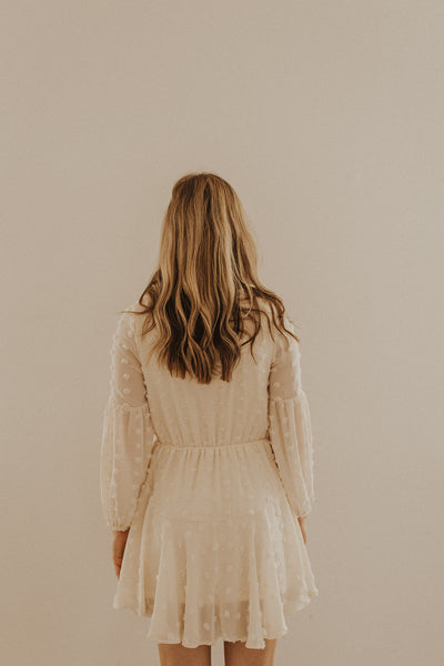 Isabella Dot Dress in Cream