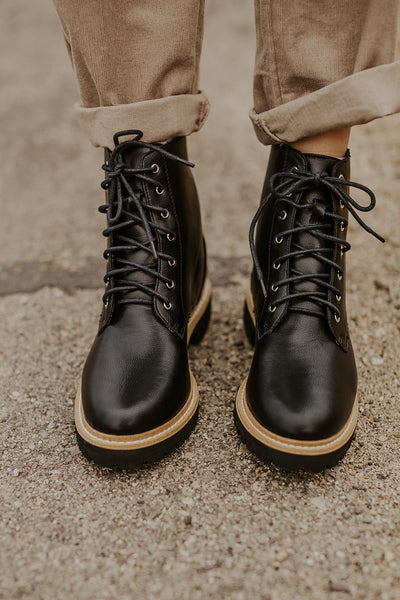 Drew Military Boot in Black