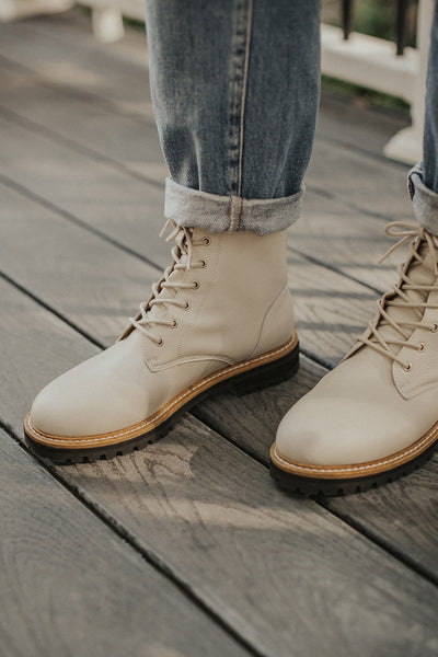 Drew Military Boot in White