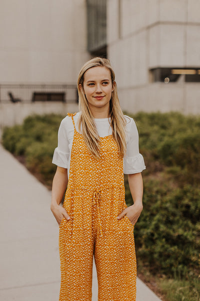 Catalina Jumpsuit in Mustard