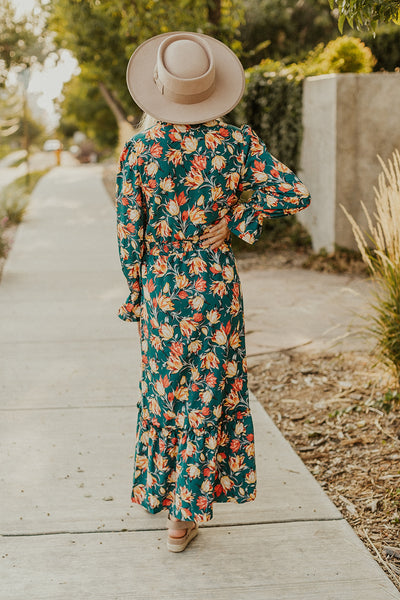 Briar Floral Dress in Green