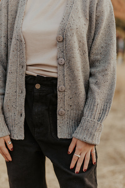 Oak Cardi Sweater in Grey