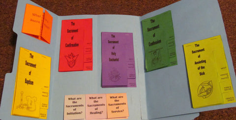 Seven Sacraments Faith Folder Lapbook eBook