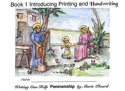 Writing Can Help -Book 1: Introducing Printing & Handwriting eBook-NEW & updated!