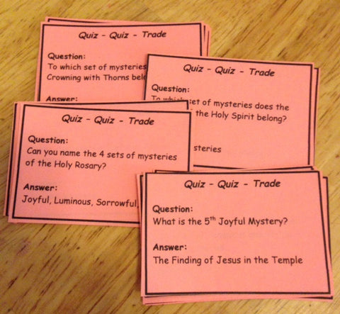 Holy Rosary Quiz Quiz Trade Game (PDF)