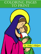 Catholic Coloring Pages To Print - Saint Anne's Helper - Emmanuel Books