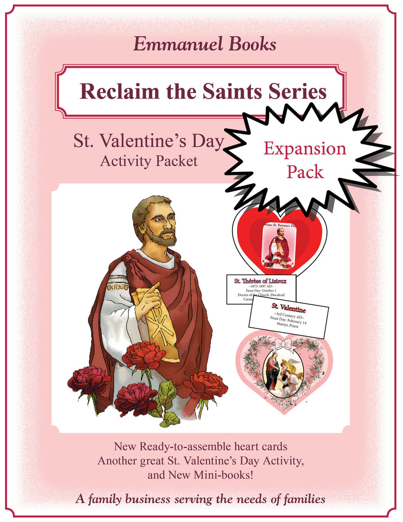 Expansion packet for the 1st edition of St. Valentine Activity Kit - PDF