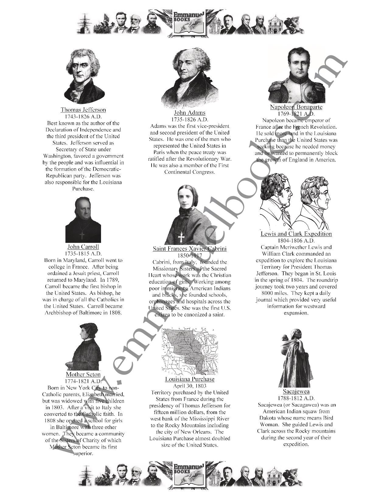 History Worth Remembering Timeline Figures VOL. 2: American Revolution to Civil War eBook
