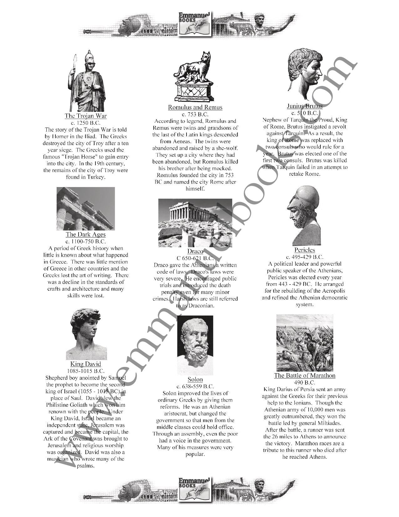 History Worth Remembering Timeline Figures VOL. 4: Ancient Greece and Rome eBook