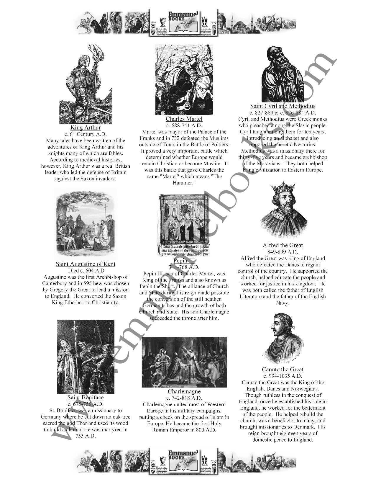 History Worth Remembering Timeline Figures VOL. 5: Medieval Times eBook
