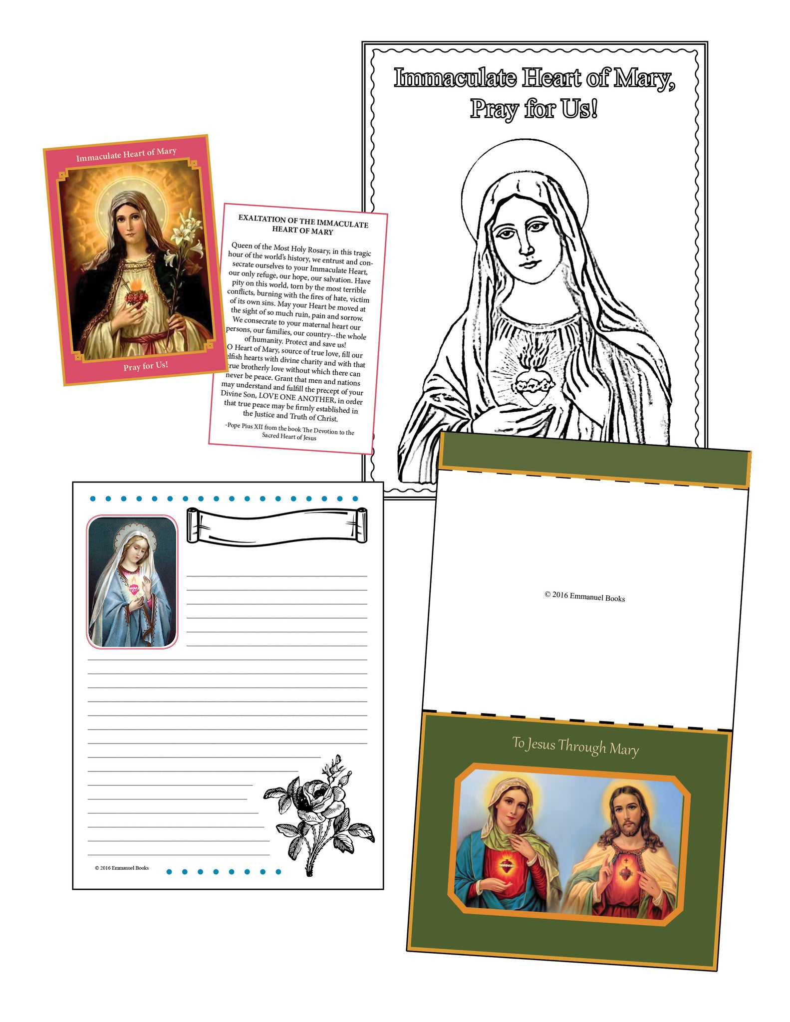 Immaculate Heart of Mary  Mini-Activity Packet Download