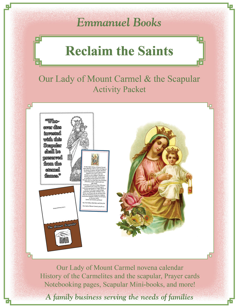Our Lady of Mount Carmel and the Scapular Activity Packet Download