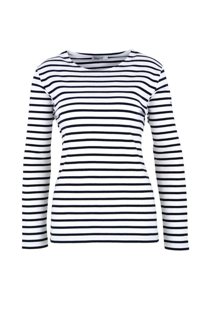 Striped Breton T-shirt White/Deep Navy