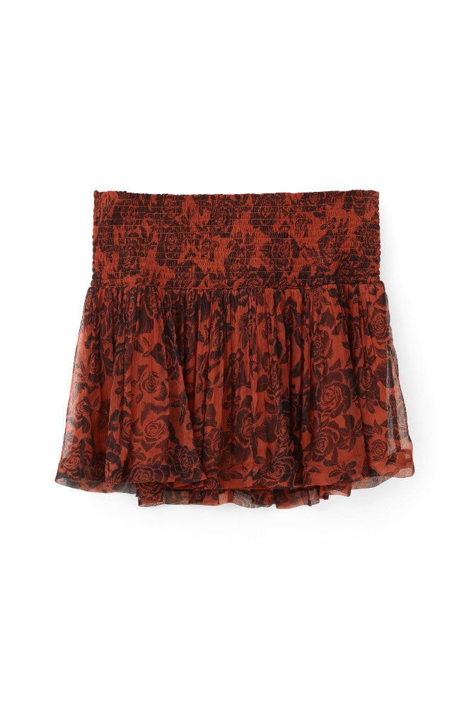 Beaumont Chiffon Skirt Brandy Brown