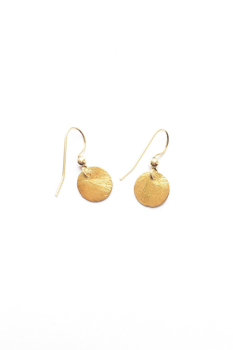 Disc earrings gold plated