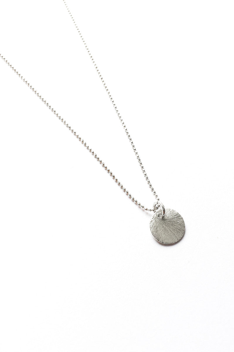 Disc necklace silver