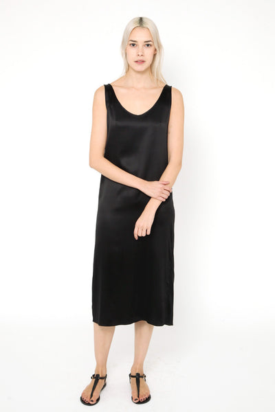 Lily Silk Dress Black