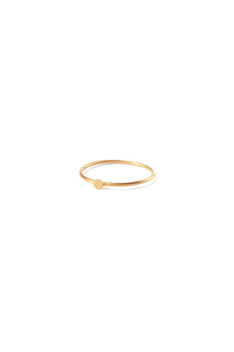 Micro Coin Ring Gold Plated