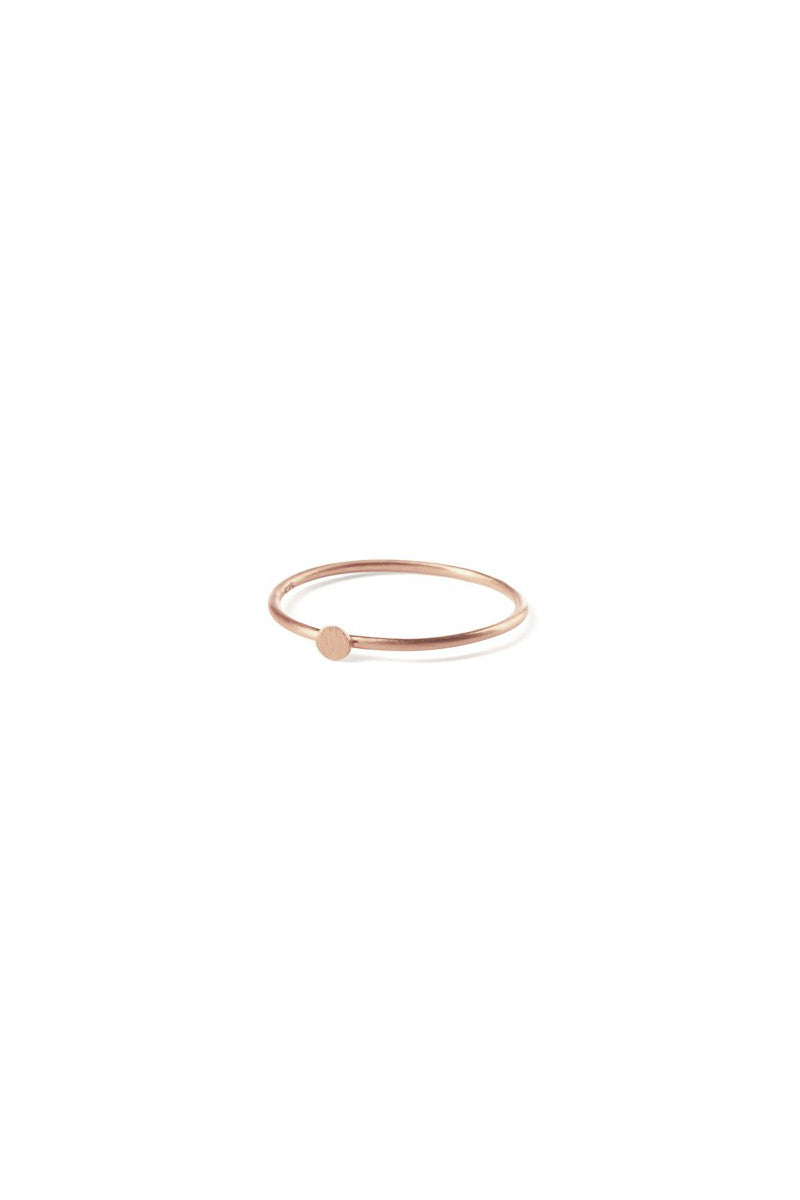 Micro Coin Ring Rose Gold Plated
