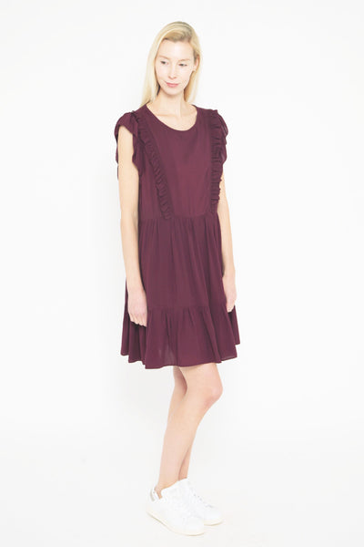 Rousseau Dress Bordeaux